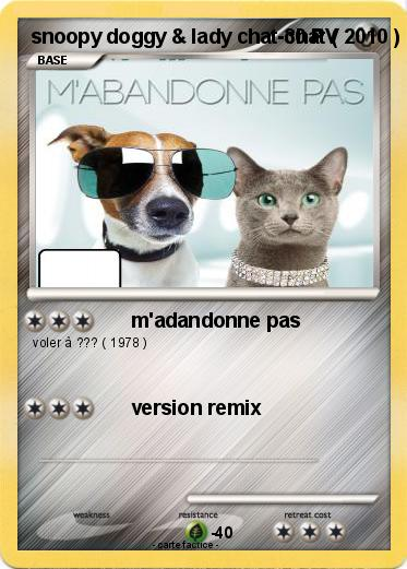 Pokemon snoopy doggy & lady chat-chat ( 2010 ) mixte