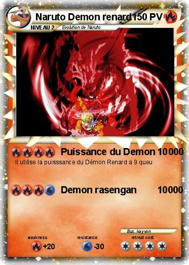 Pokemon Naruto Demon renard