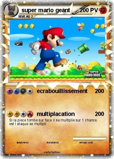 Pokemon super mario geant