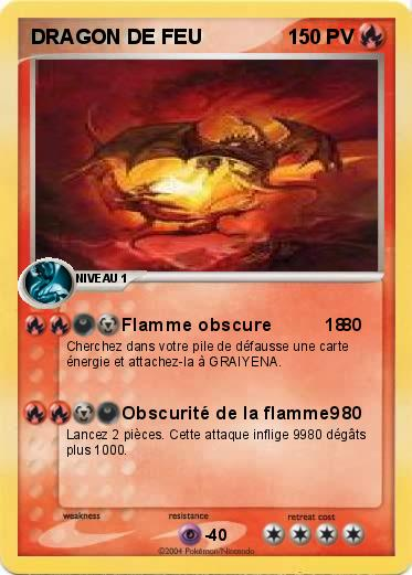 Pokemon DRAGON DE FEU