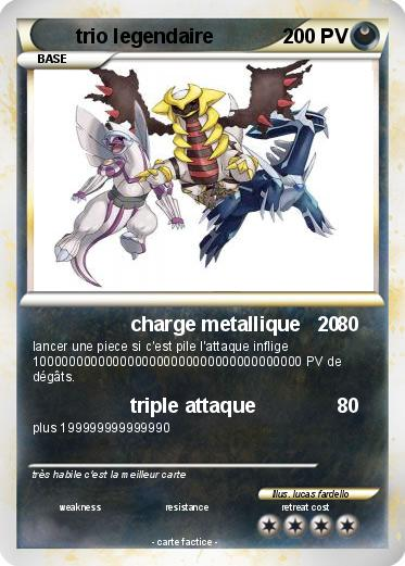 Pokemon trio legendaire