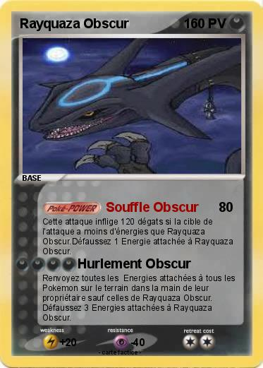 Pokemon Rayquaza Obscur