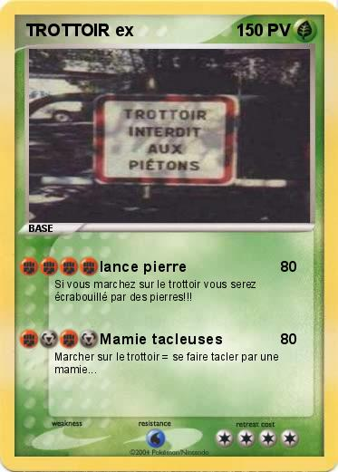 Pokemon TROTTOIR ex
