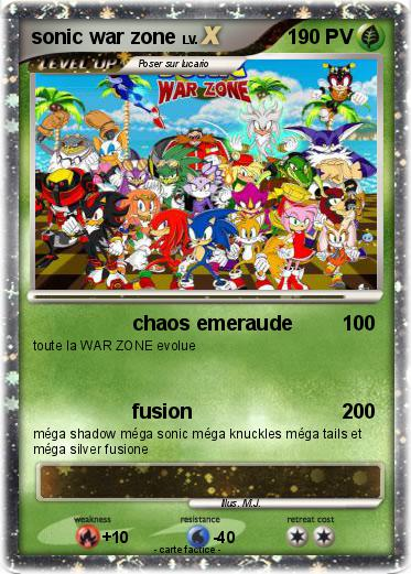 Pokemon sonic war zone