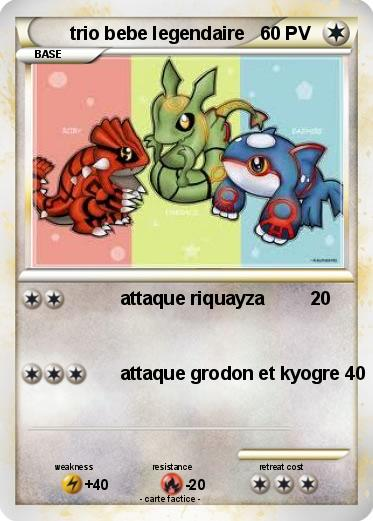 Pokemon trio bebe legendaire