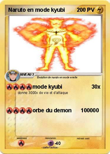 Pokemon Naruto en mode kyubi