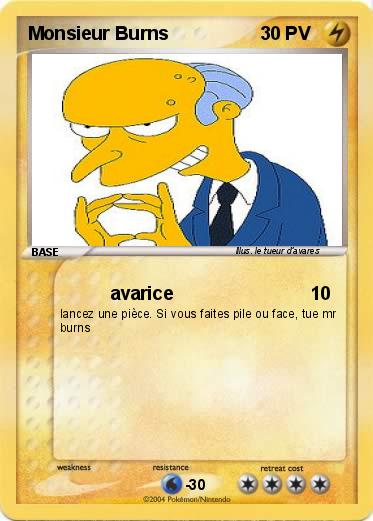 Pokemon Monsieur Burns