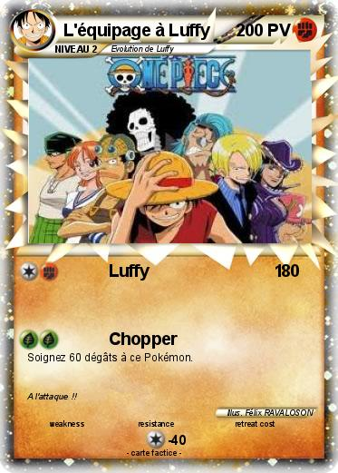 Pokemon L'équipage à Luffy