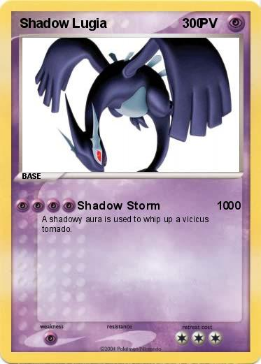 Pokemon Shadow Lugia                         0