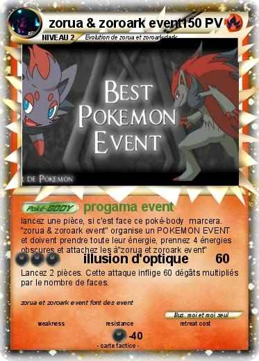 Pokemon zorua & zoroark event