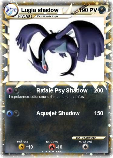 Pokemon Lugia shadow