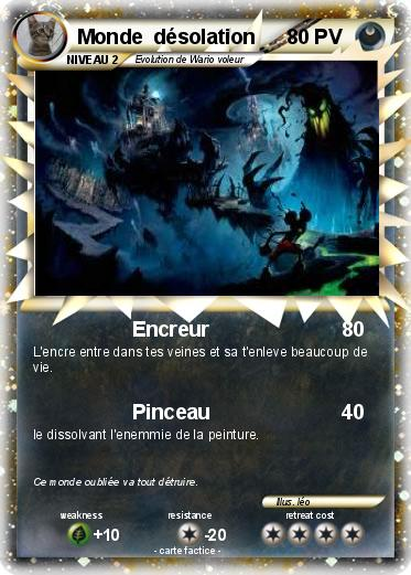 Pokemon Monde  désolation