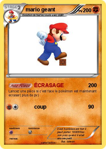 Pokemon mario geant