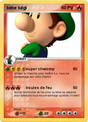 Pokemon bebe luigi