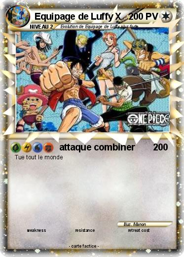 Pokemon Equipage de Luffy X