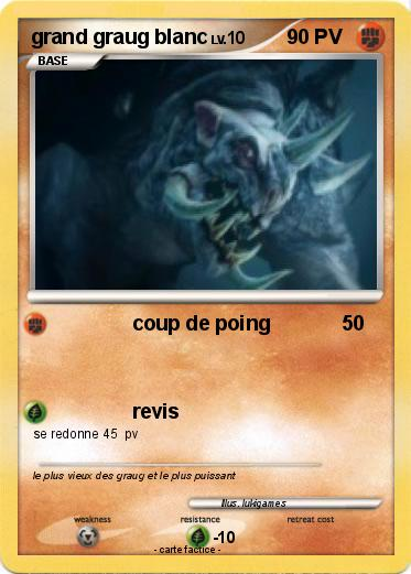Pokemon grand graug blanc