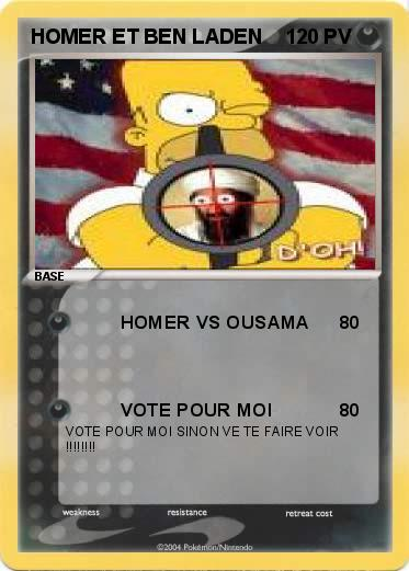 Pokemon HOMER ET BEN LADEN