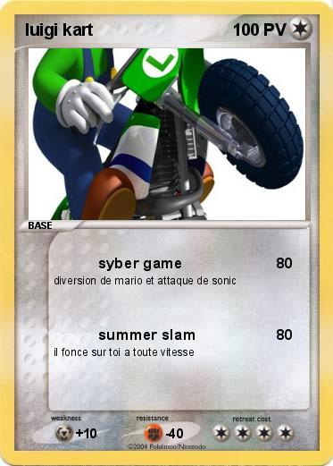 Pokemon luigi kart