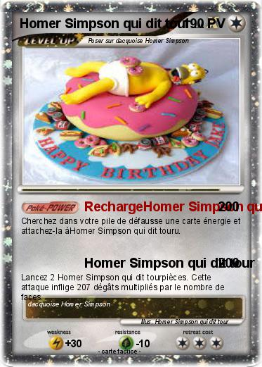 Pokemon Homer Simpson qui dit tour