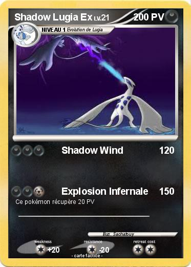 Pokemon Shadow Lugia Ex