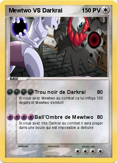 Pokemon Mewtwo VS Darkrai