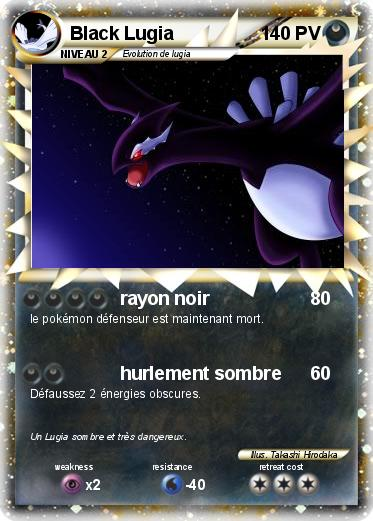 Pokemon Black Lugia