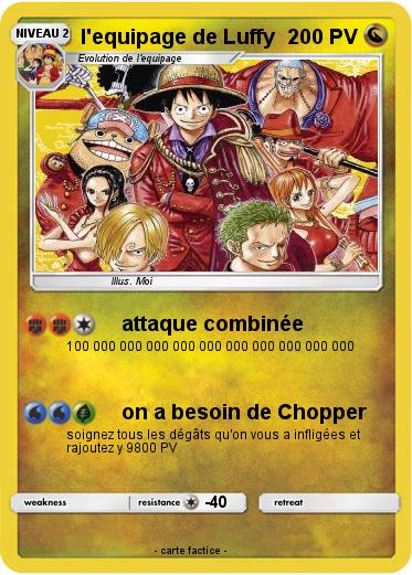 Pokemon l'equipage de Luffy