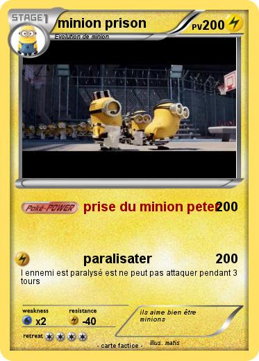 Pokemon minion prison