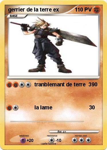 Pokemon gerrier de la terre ex