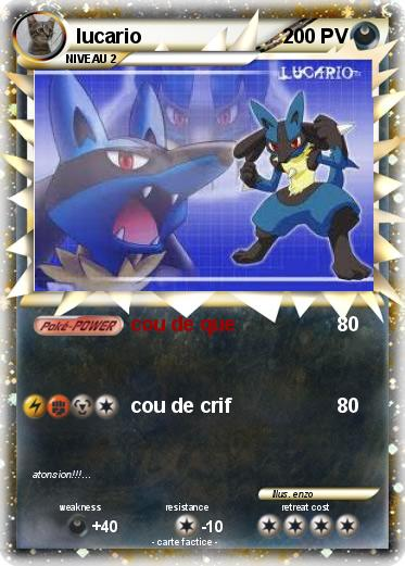 Pokemon lucario