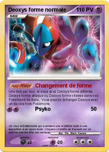 Pokemon Deoxys forme normale
