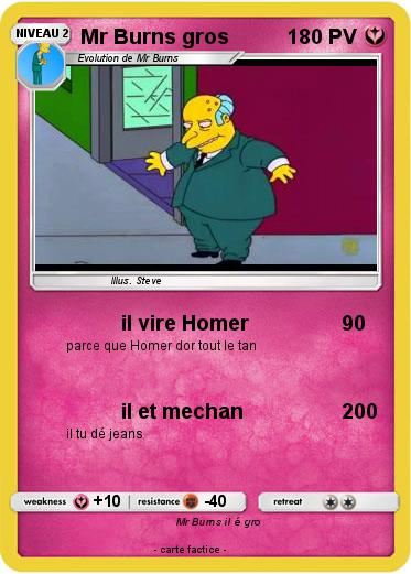 Pokemon Mr Burns gros