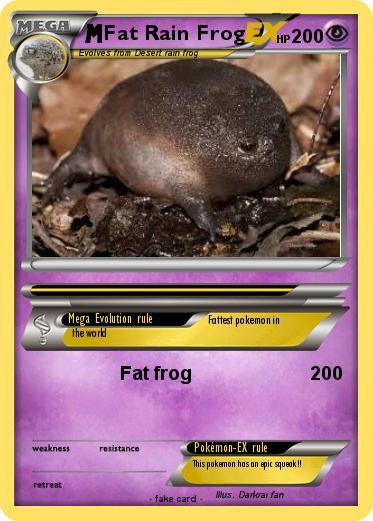 Pokemon Fat Rain Frog Fat Frog My Pokemon Card
