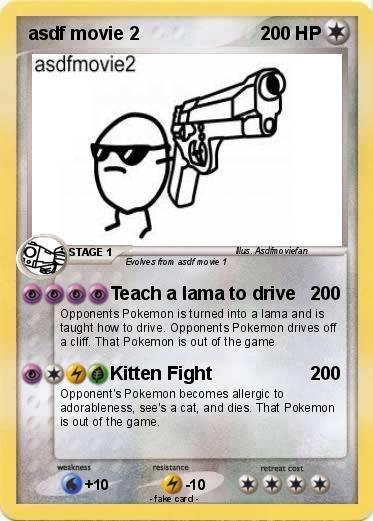 pokémon asdf movie 2 2 2 teach a lama to drive my pokemon card