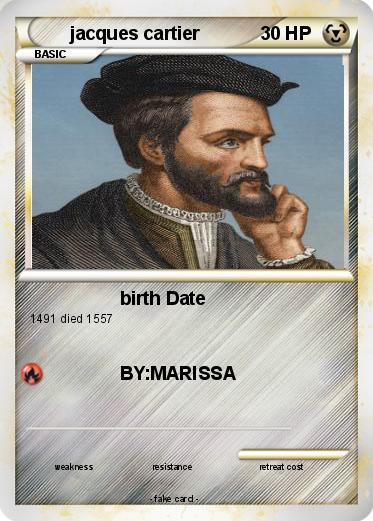 Pokémon jacques cartier 11 11 - birth Date - My Pokemon Card