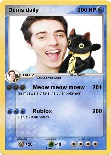 Pok 233 Mon Denis Daily 5 5 Meow Meow Moew My Pokemon Card