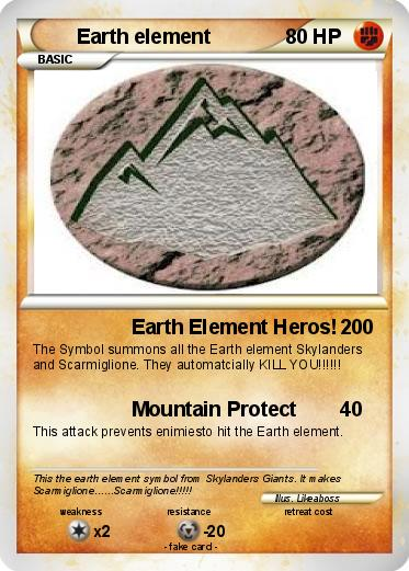 Pokmon Earth Element 1 1 Earth Element Heros My Pokemon Card