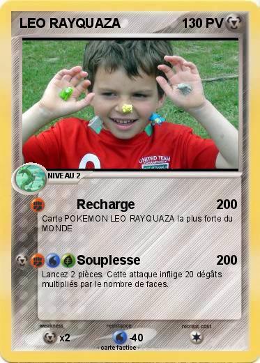 Pok mon leo rayquaza recharge ma carte pok mon - La plus forte carte pokemon du monde ...