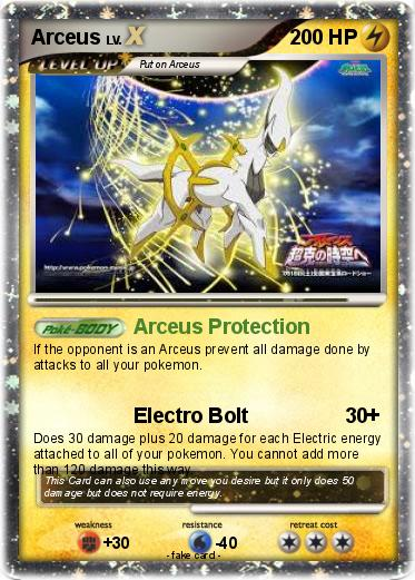 Pok 233 Mon Arceus 4811 4811 Arceus Protection My Pokemon Card