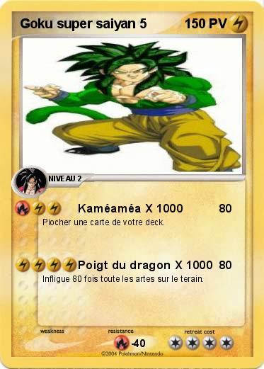 Pokemon Goku Super Saiyan 5 5 Kameamea X 1000 Ma Carte Pokemon