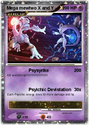 Mega mewtwo x and y card