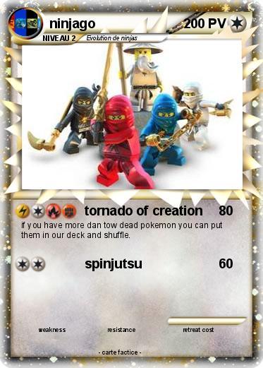 Pok mon ninjago 38 38 tornado of creation ma carte pok mon - Carte ninjago ...