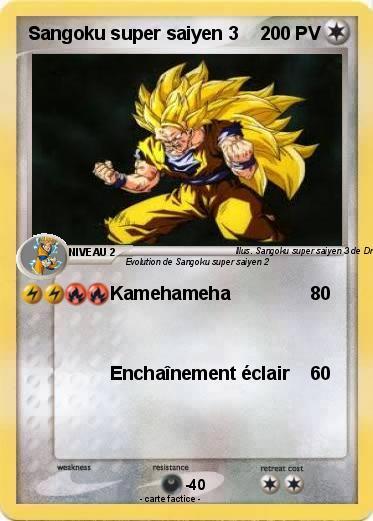 Pokemon Sangoku Super Saiyen 3 10 10 Kamehameha Ma Carte Pokemon