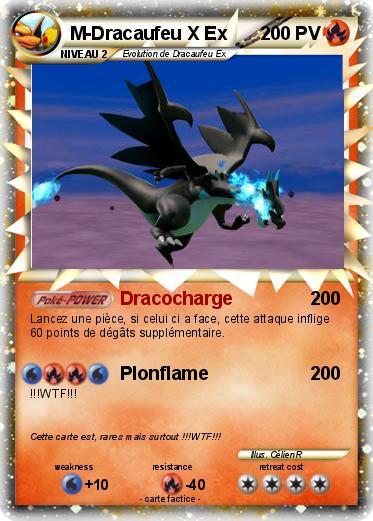 Pok mon m dracaufeu x ex 6 6 dracocharge ma carte pok mon - Pokemon dracaufeu x ...