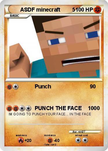 Pokémon ASDF minecraft 5 5 - Punch - My Pokemon Card
