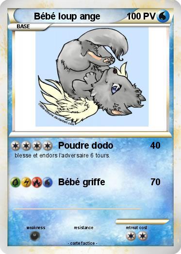 Pokemon Bebe Loup Ange Poudre Dodo Ma Carte Pokemon