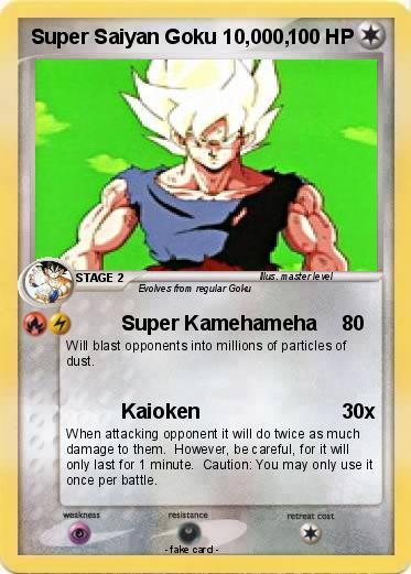 Pok mon super saiyan goku 10 000 000 super kamehameha my pokemon card - Super sayen 10000 ...