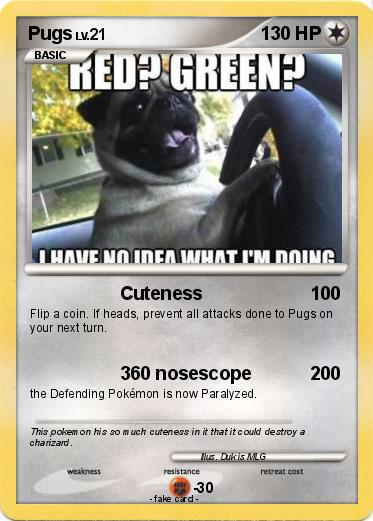Pokémon Pugs 20 20 Cuteness My Pokemon Card