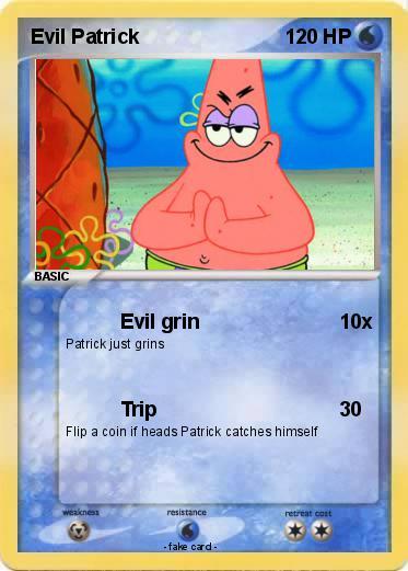 pokémon evil patrick 15 15 evil grin my pokemon card