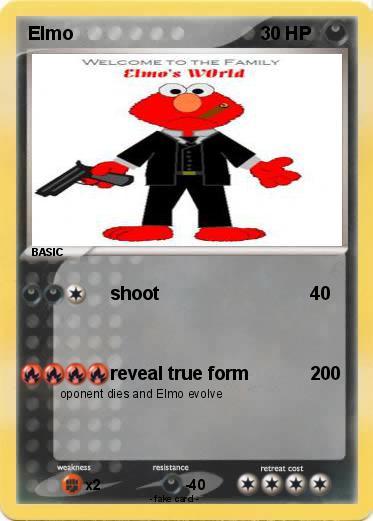 Pokémon Elmo 665 665 Shoot My Pokemon Card